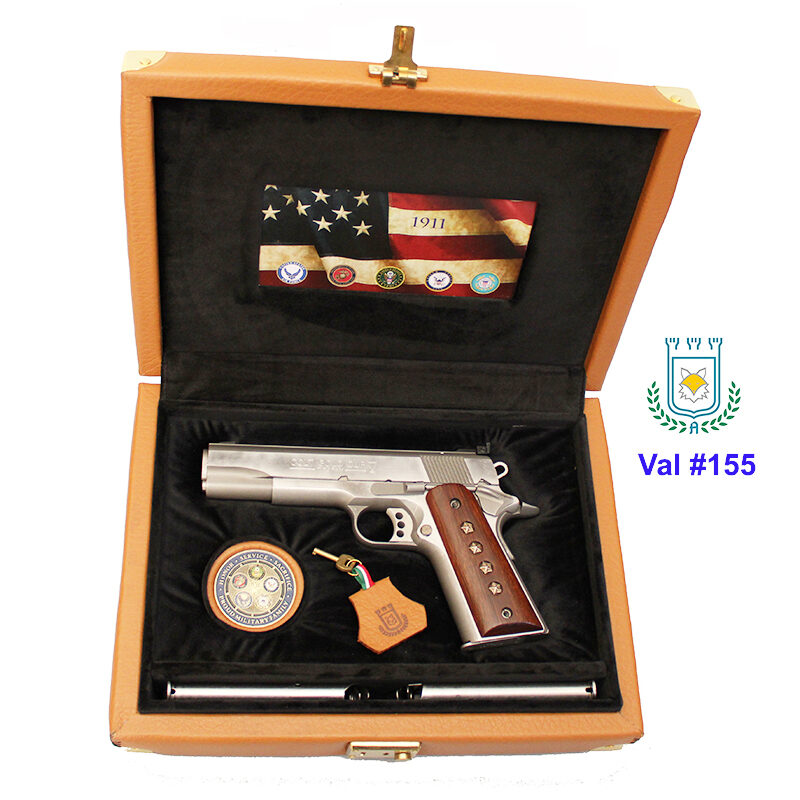 #0155 Valigetta Nuova in Pelle Colt 1911 - US Armed Forces